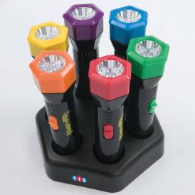 Oplaadbare zaklampen met kleurenfilters