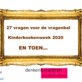 EN TOEN…Kinderboekenweek 2020:  27 kaartjes voor de vragenbal