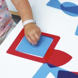 Montessori-vormen voor lichttafels