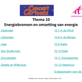 Concept Cartoons Thema 10: Energiebronnen en omzetting van energie